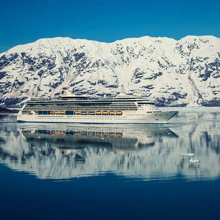 Amazing reflective pic of a Royal Caribbean ship - Radiance of the Seas perhaps?