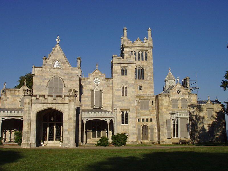 Lyndhurst Castle, Tarrytown, NY - front facade - List of