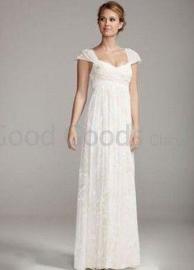 Ruffles Maternity Wedding Dress