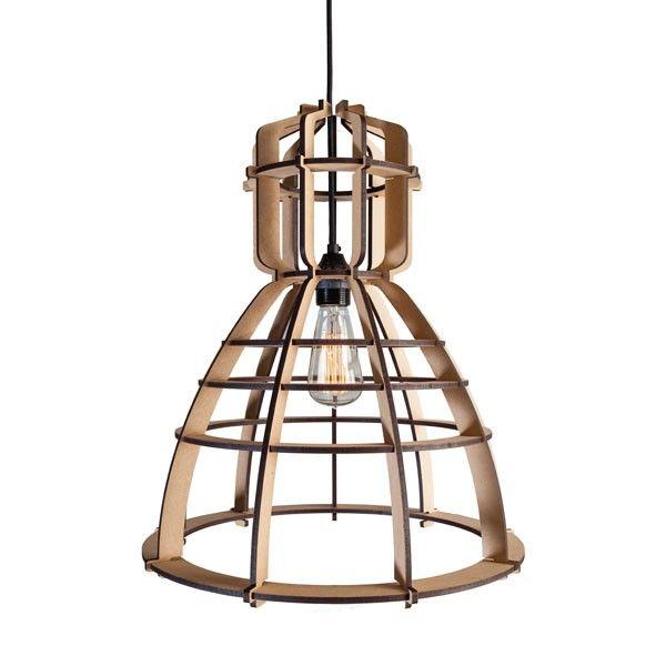 industriele lamp in een houten jasje van alles pinterest