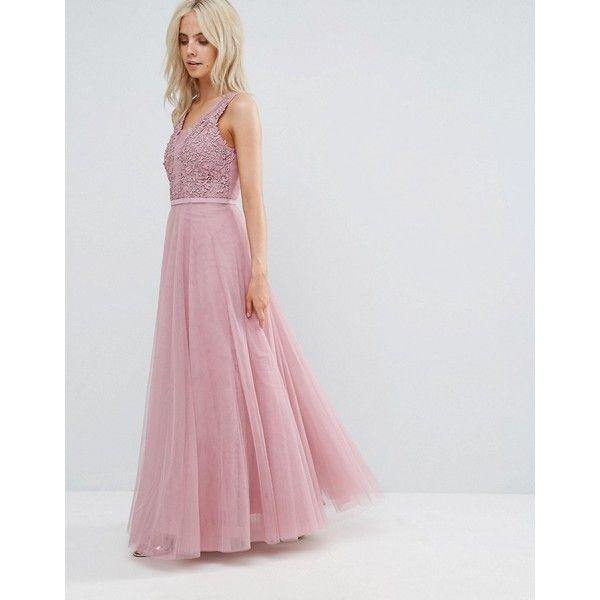 Little Mistress Petite Floral Applique Top Maxi Prom Dress ($140 ...