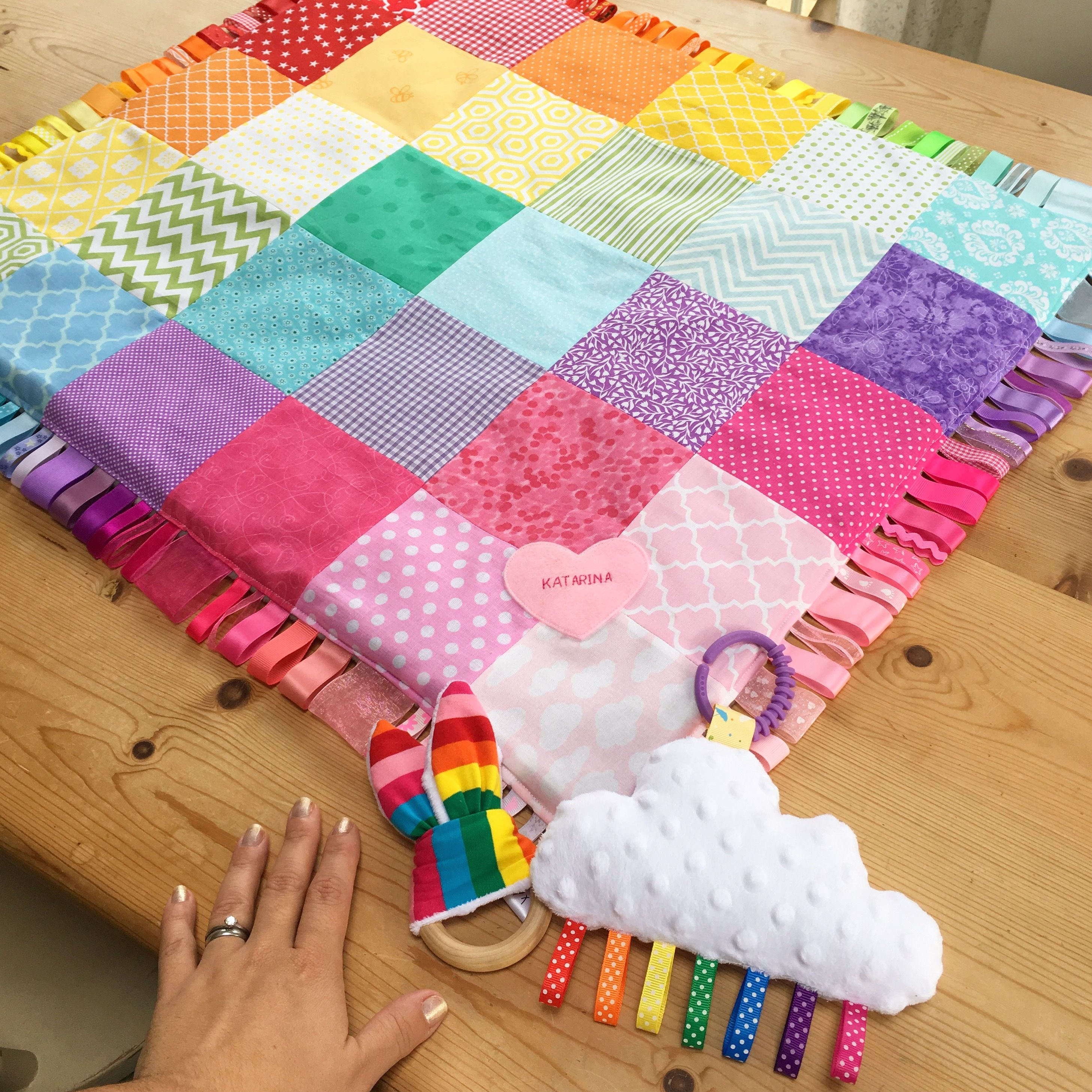 Patchwork Set Baby Ultimate Rainbow Baby Blanket Set Patchwork Blanket Cloud