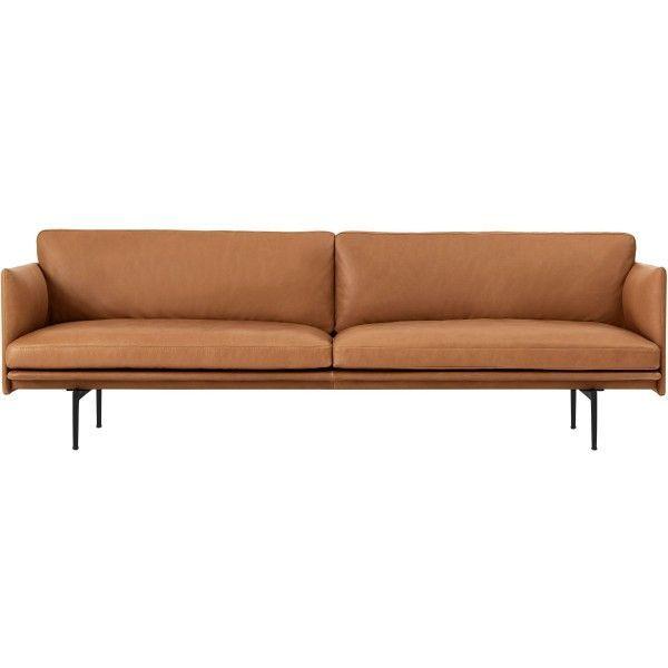 Muuto Outline 3er Sofa Wohnzimmer Pinterest - wohnzimmer orange beige