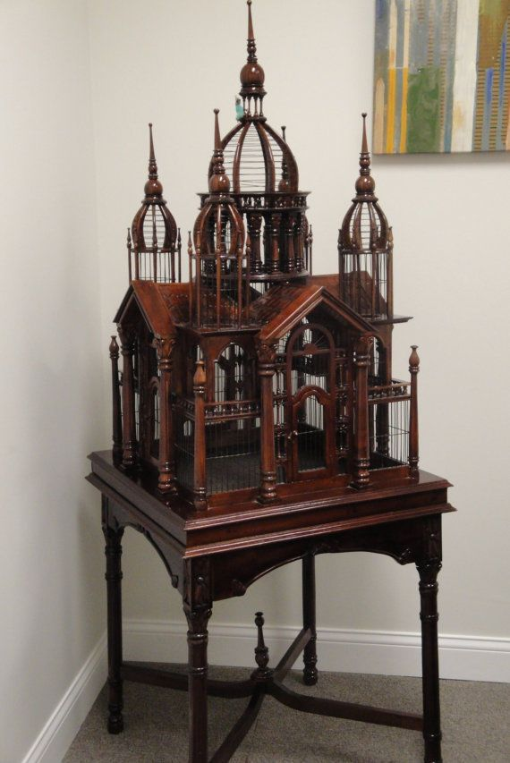 Antique Victorian Style Bird Cage House