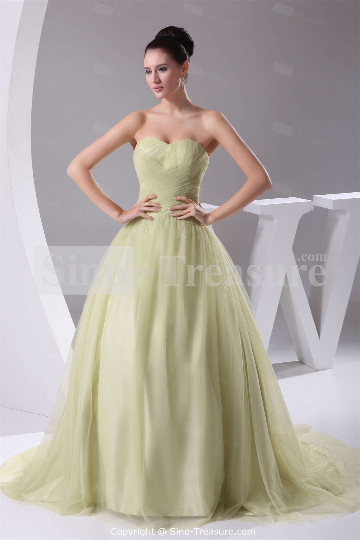 Colored wedding dresses color wedding dress wedding princess ball gown with sweetheart neckline wedding dress really pretty and unique celery color ombrellifo Image collections