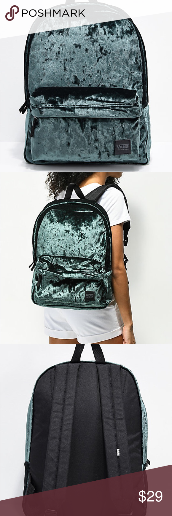 42922e8e9563 Vans Deanna III Velvet 22L Backpack 🎉 Deana III Darkest Spruce Velvet 22L  Backpack from