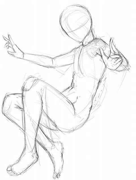 Full Body Poses Drawing : poses, drawing, Drawing, Reference, Poses,, Poses