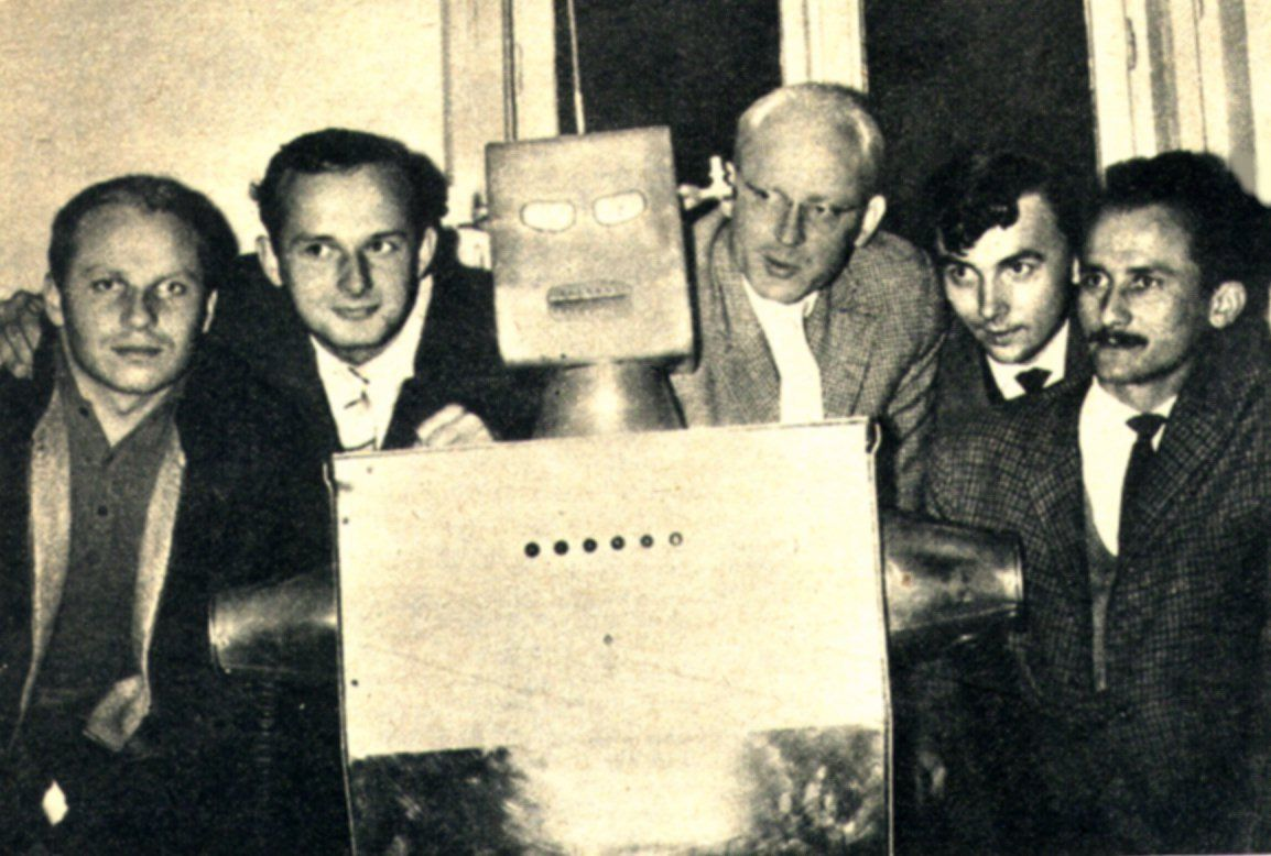 Cybernetics Team With Their Robot Tioss At Zagreb Eth University 1962 Branimir Makanec Is Pictured Directly To The Right Of The Robot History Sci Fi Retro