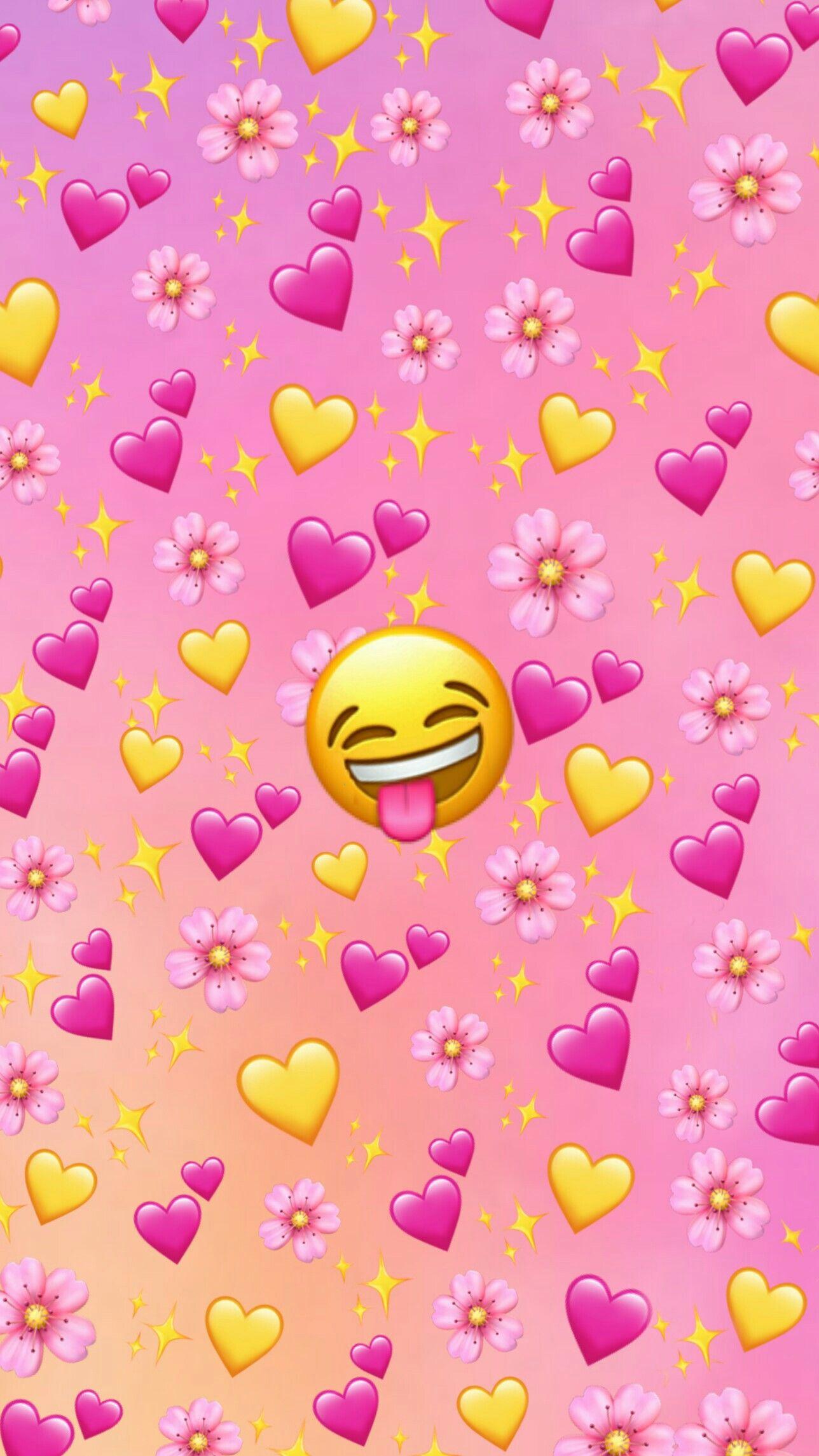 Pink Emoji Background Emoji Backgrounds Emoji Wallpaper Iphone Wallpaper Tumblr Aesthetic
