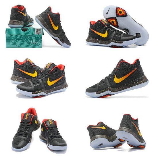 Nike Really Cheap Kyrie 3 PE Gradient Swoosh pe Black Laser Orange Max  Orange