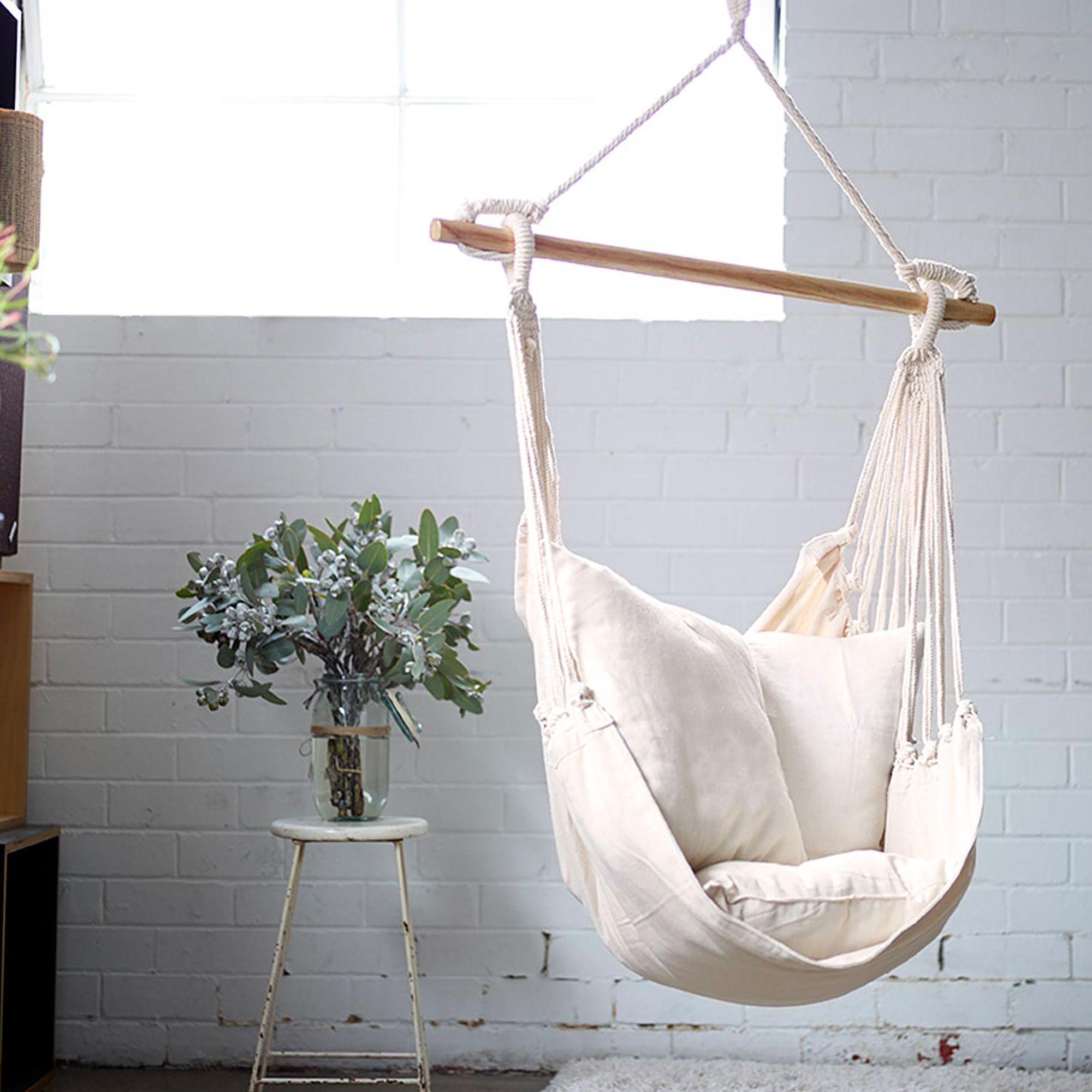 CollectiveSol Natural Noosa Cotton Hammock Chair Swing