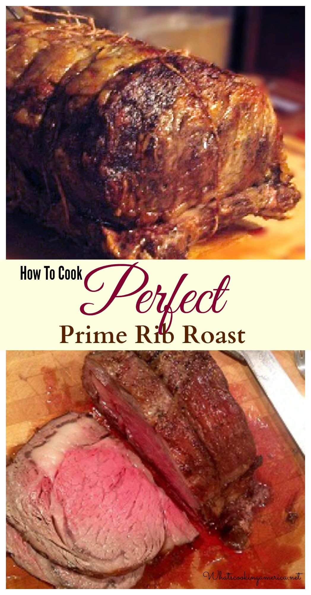 Perfect Prime Rib Roast Recipe And Cooking Instructions Recipe Rib Recipes Cooking Cooking Recipes
