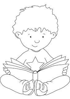 çocukla çocuk Olun Kütüphaneler Haftası Clipart Coloring Books