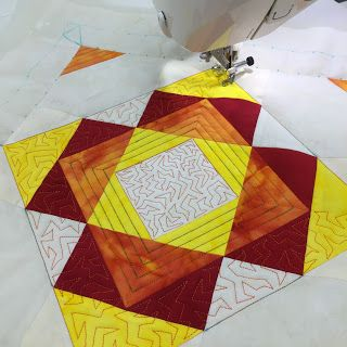 Machine Quilting Block Party block 11 is named Glitter star. http ... : machine quilting blogspot - Adamdwight.com