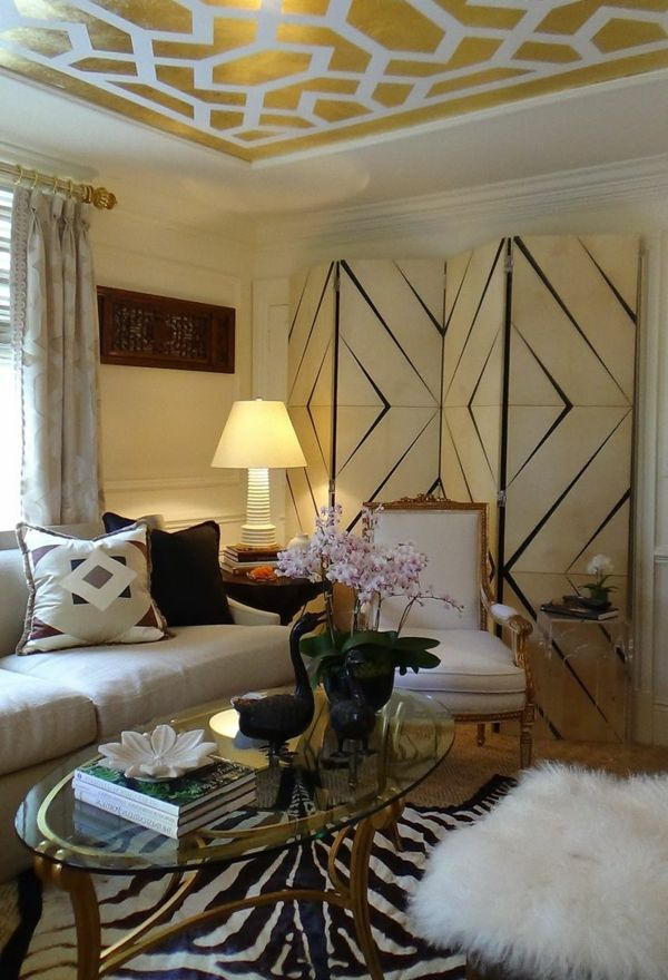 Schöne Wohnideen -Metallic Decken für Ihr Zuhause - wohnzimmer offene decke