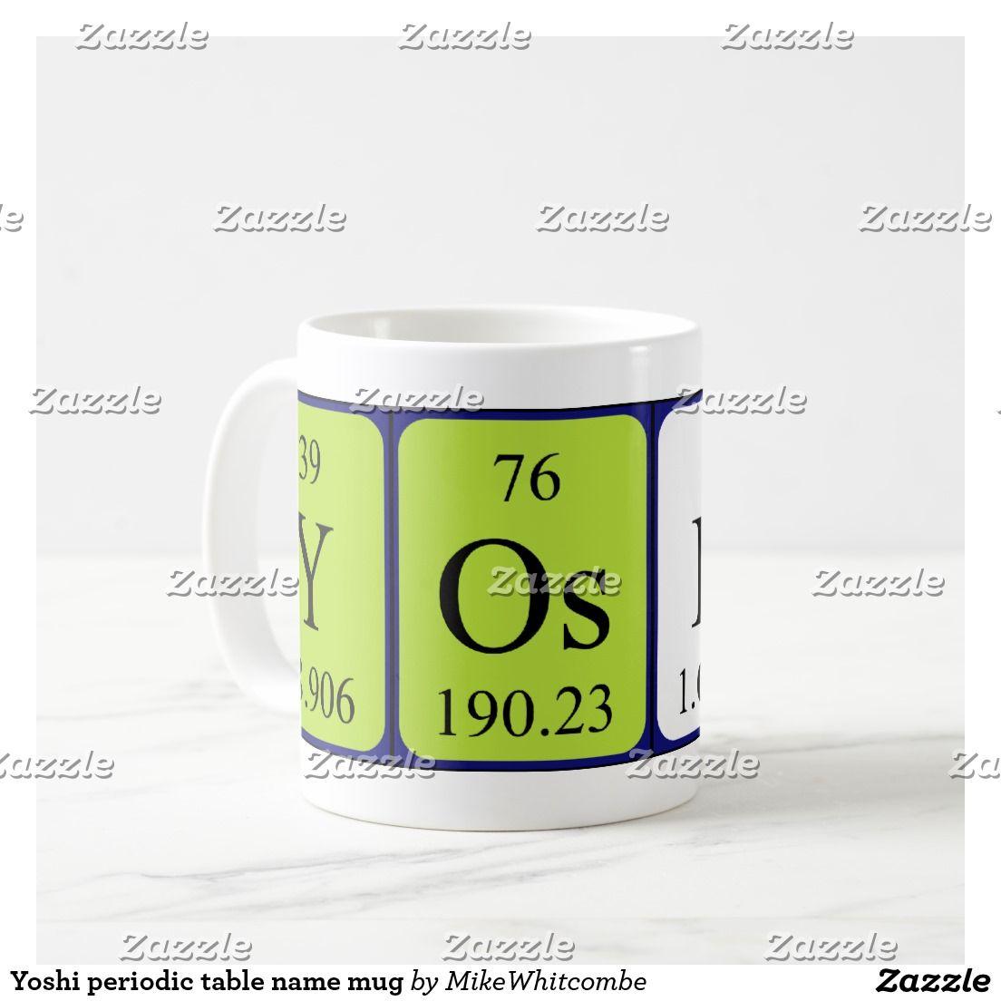 Yoshi periodic table name mug periodic name pinterest periodic yoshi periodic table name mug urtaz Image collections