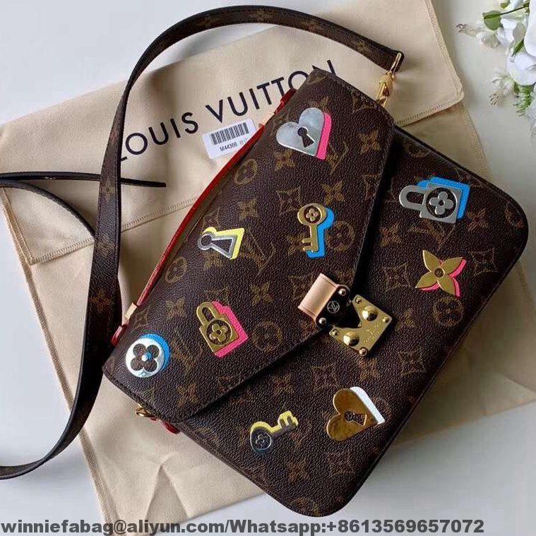 8a6389c550b8 Louis Vuitton Monogram Canvas Love Lock Pochette Metis Bag M44366 2019