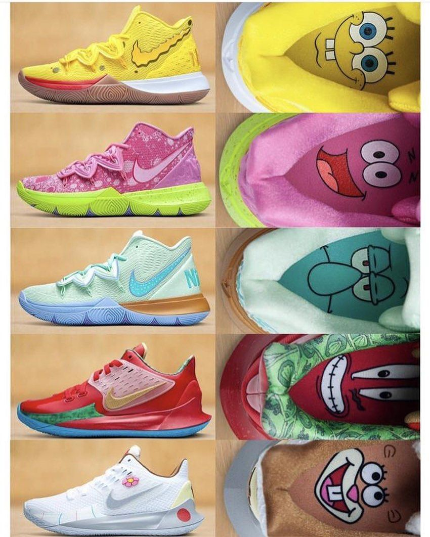 kyrie 5 spongebob collection