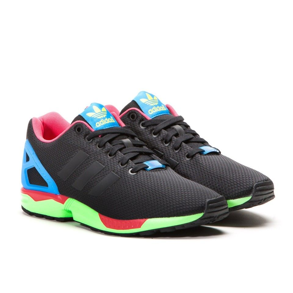 pretty nice b2a7f 9a3f6 Adidas ZX Flux `I Want, I can` (Schwarz   Solar Green)