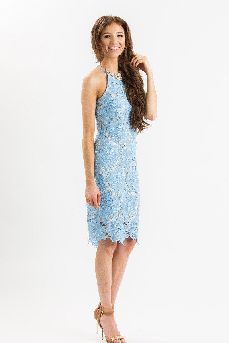 4b93abd1c66f Maya Blue Lace Halter Midi Dress – Morning Lavender