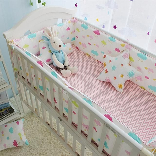 Babies Bumper Breathable Bumpers In The Crib Baby Crib Bumper Sheet Infant Protector Safe Bedding Set C Toddler Bed Set Baby Crib Bedding Sets Crib Toddler Bed