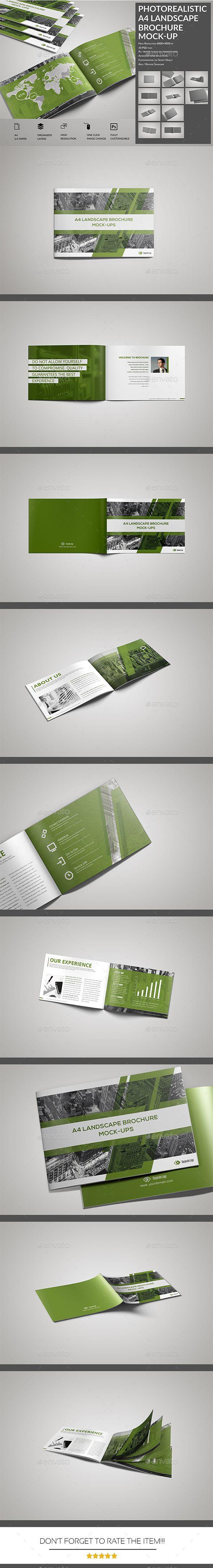 Photorealistic A Landscape Brochure  Catalog MockUp  Mockup