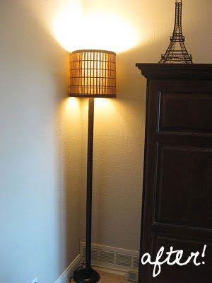 Torch Lamp Makeover Floor Lamp Makeover Lamp Makeover Diy Floor Lamp
