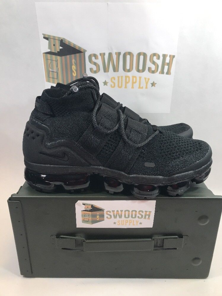 150fd110b22 Nike Air VaporMax Flyknit Utility Maximum Black Men s Size 8.5 AH6834-001   Nike  AthleticSneakers