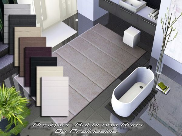 Eight Modern Designer Bathroom Rugs By Pralinesims Sims 3 . - Cool Bathroom Rugs - Delonho.com