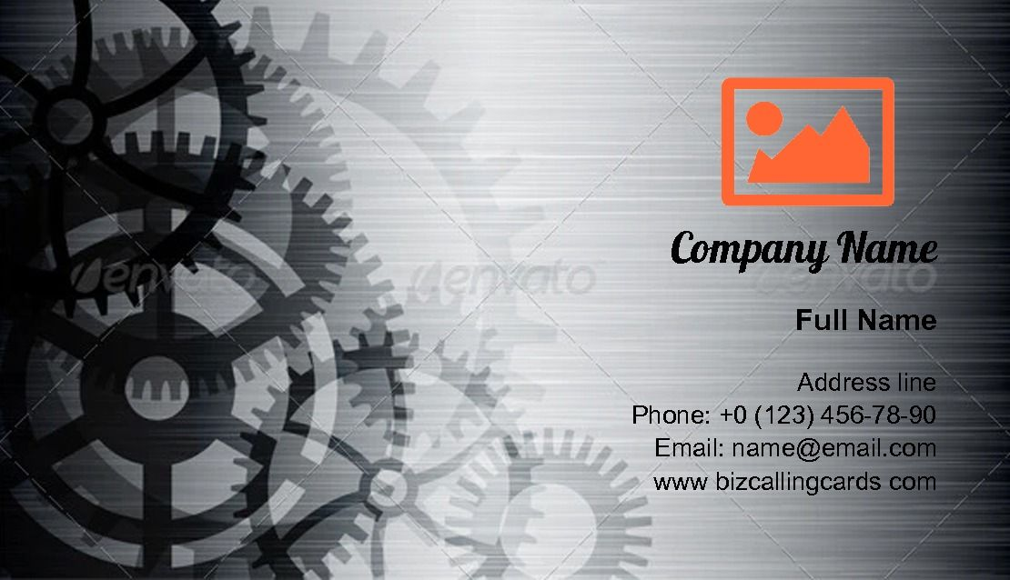 Create Online Engineering Technology Theme Business Card Template