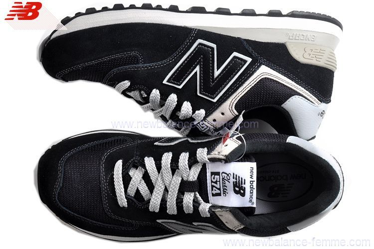 more photos 88ad4 f9e11 ... hot new balance ml 574 bbk chaussures femme noir 8f889 6ec86