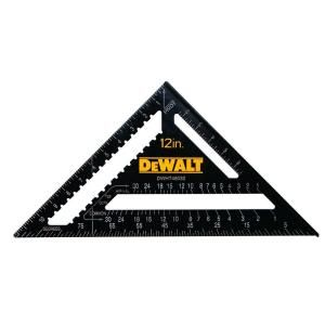 Dewalt 12 In Quick Square Dwht46032 The Home Depot Quick Square Rafter Square Dewalt