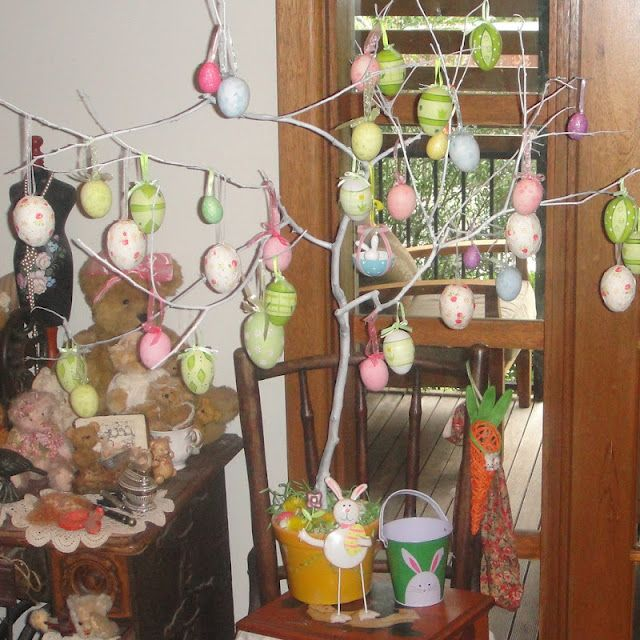 The Old Fat Hen-my easter tree i made