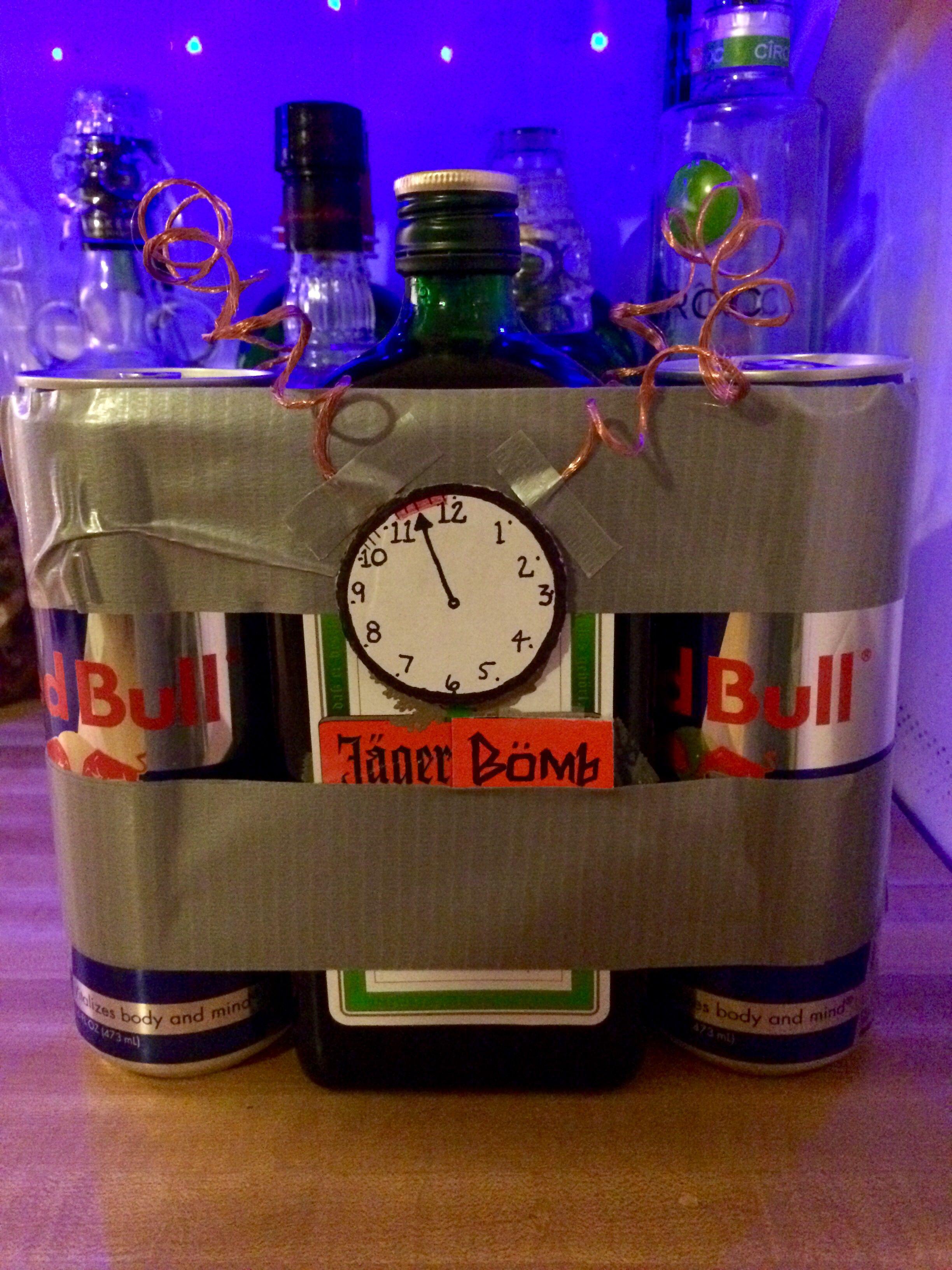 Jäger Bomb gift we made our friend. | Männergeschenke | Pinterest ...