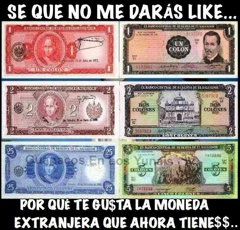 Dinero Salvadoreño El Salvador Money