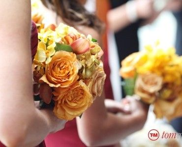 TomMikephotographer, gold roses, yellow orchids for this Esperanza Mansion floral bouquet by Stacy k Floral