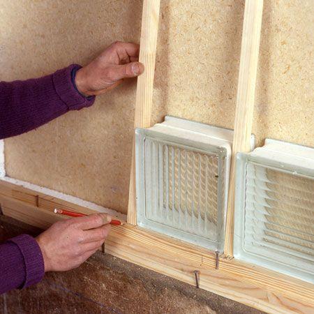 Comment monter des briques de verre brique carreau de - Montage brique de verre exterieur ...
