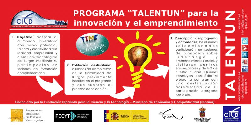 Flier del programa Talentun