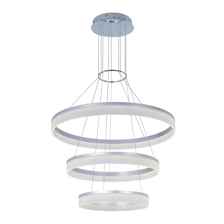 Contempo lights cirbel pendant lamp silver white acrylic