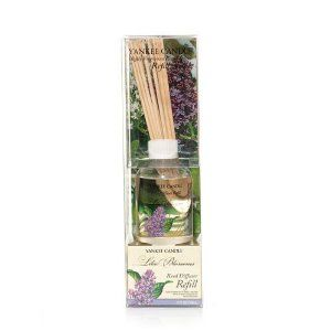 Yankee Candle LILAC BLOSSOMS Reed Diffuser Refill Kit by Yankee Candle. $9.50. Reed Diffuser Refill Kit with new reeds!. A great way to recycle your previous Reed Diffuser Glass Jar. Long-lasting continuous fragrance in any room of your home, camp or RV!. An alluring grove of lavender, white, and deep purple lilacs. -- as our Lilac Blossoms scent. Excellent choice to refill your Yankee Candle Diffuser and bring it back to life! Designed to complement your home decor and your pe...
