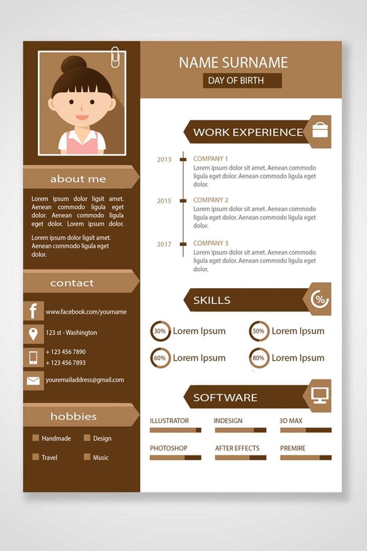 ร บทำ Portfolio ร บทำ Resume ช วยพร เซนต ต วค ณให น าสนใจ Portfolio Resume Design Click Picture To Hire Designer Desain Resume Cv Kreatif Desain Cv