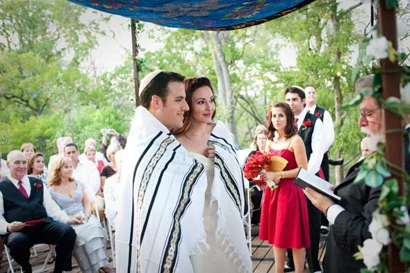 Jewish bride and groom wrapped in a prayer shawl. | Wedding Ideas ...