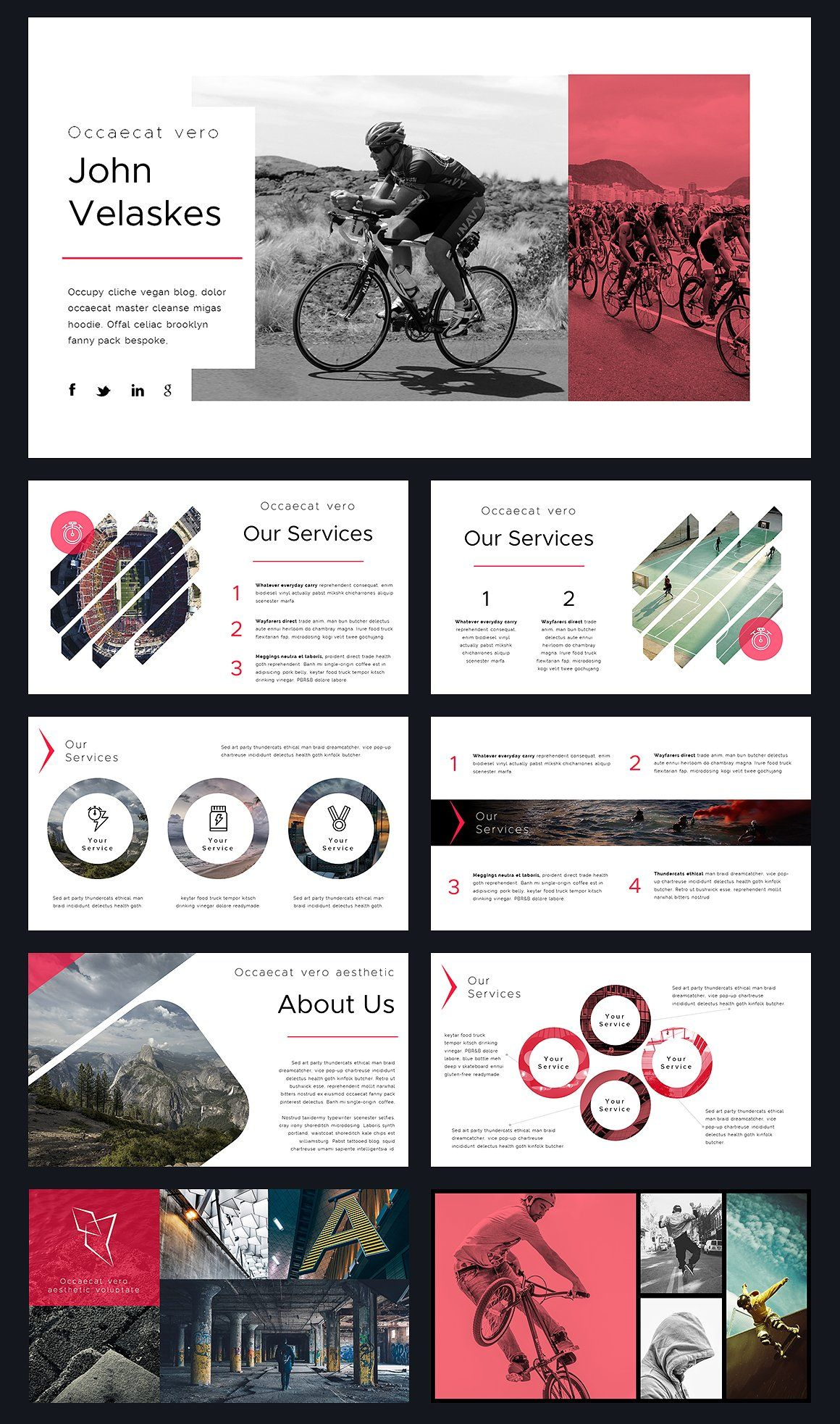 Optimize Modern Powerpoint Template By Reshapely On