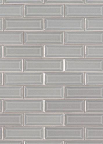 Dreamy Grays Set The Tone For Morning Fog 2x6 Beveled Subway Tiles These Beautiful Ceramic Are Mesh Backed In Sheets Of 12 Easy Installation
