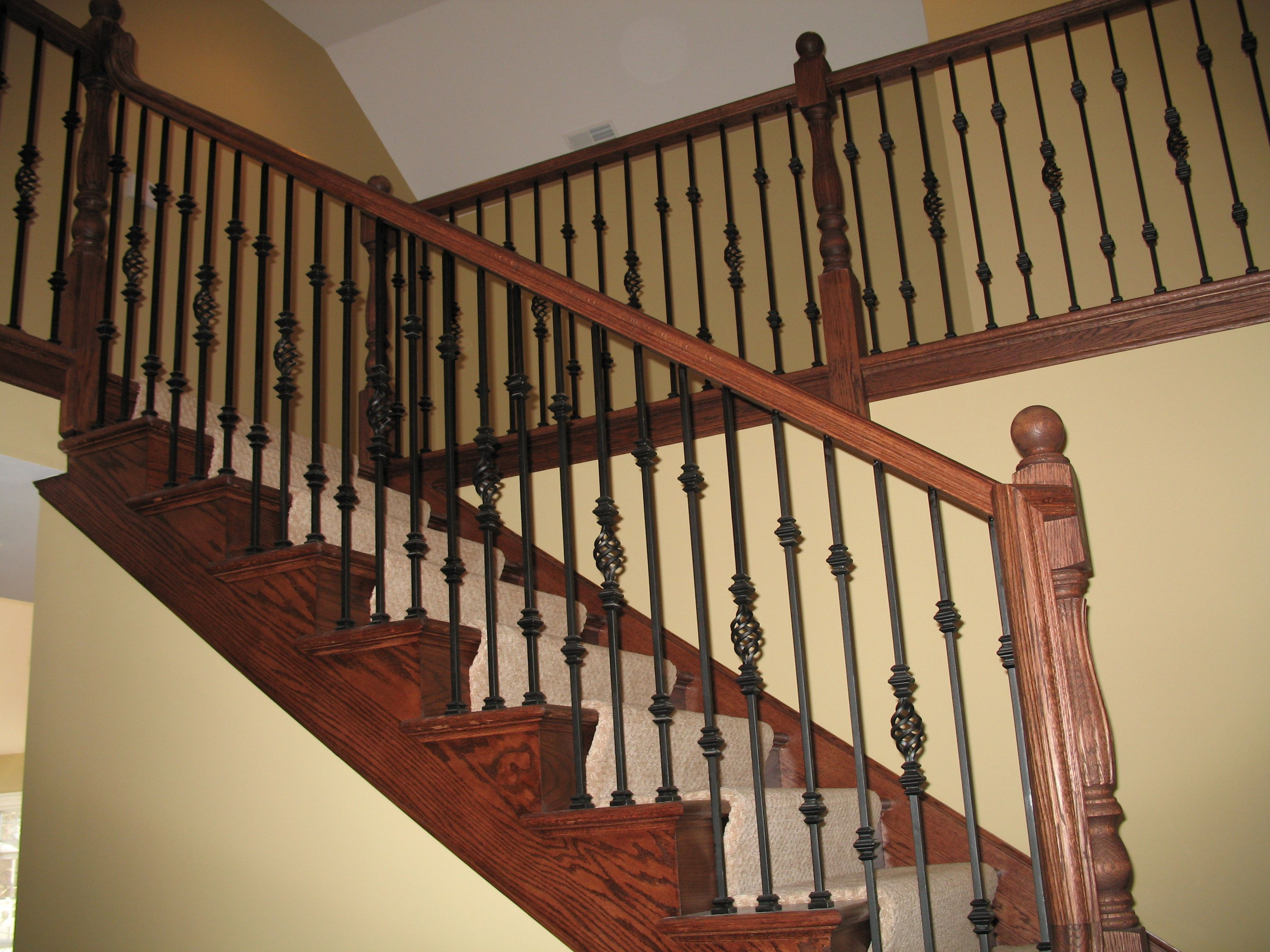 Best Iron Balusters Transitional Decor Stair Remodel Black Kitchens 400 x 300