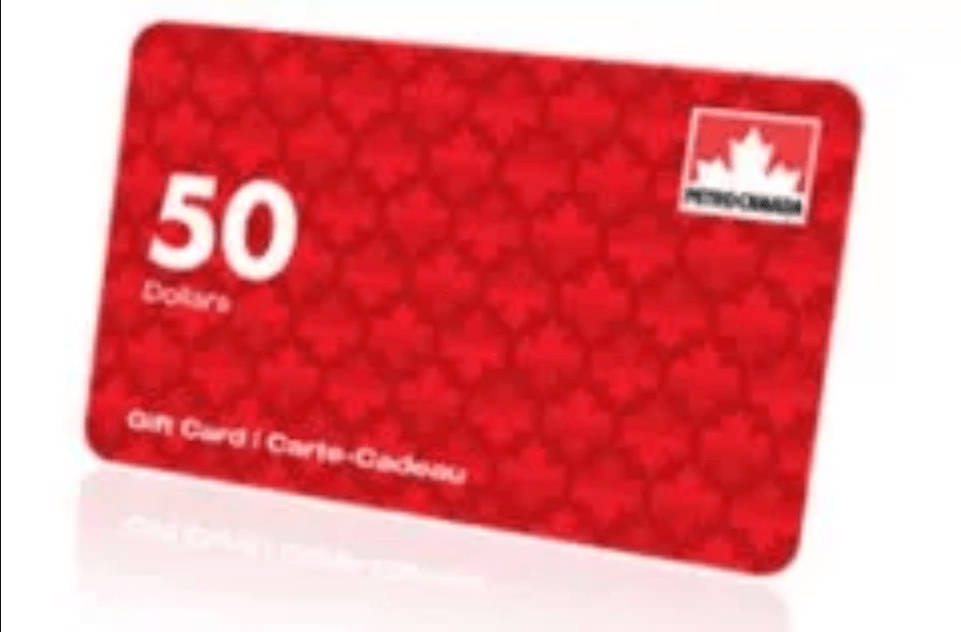 Gagnez une Carte cadeau PétroCanada de 50 Carte cadeau