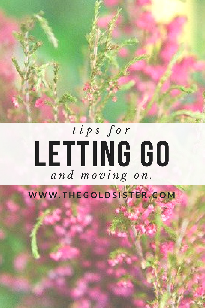 Tips for how to let go of what is holding you back and moving forward. Click through to read >>