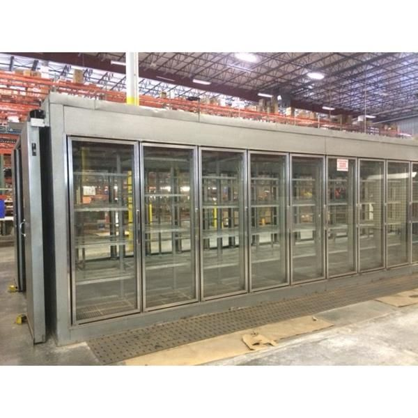 12 39 X 36 39 9 Quot X 8 39 H Display Glass Door Walk In Cooler 441 Sq Ft Barr Commercial Refrig Glass Front Refrigerator Glass Door Locker Storage