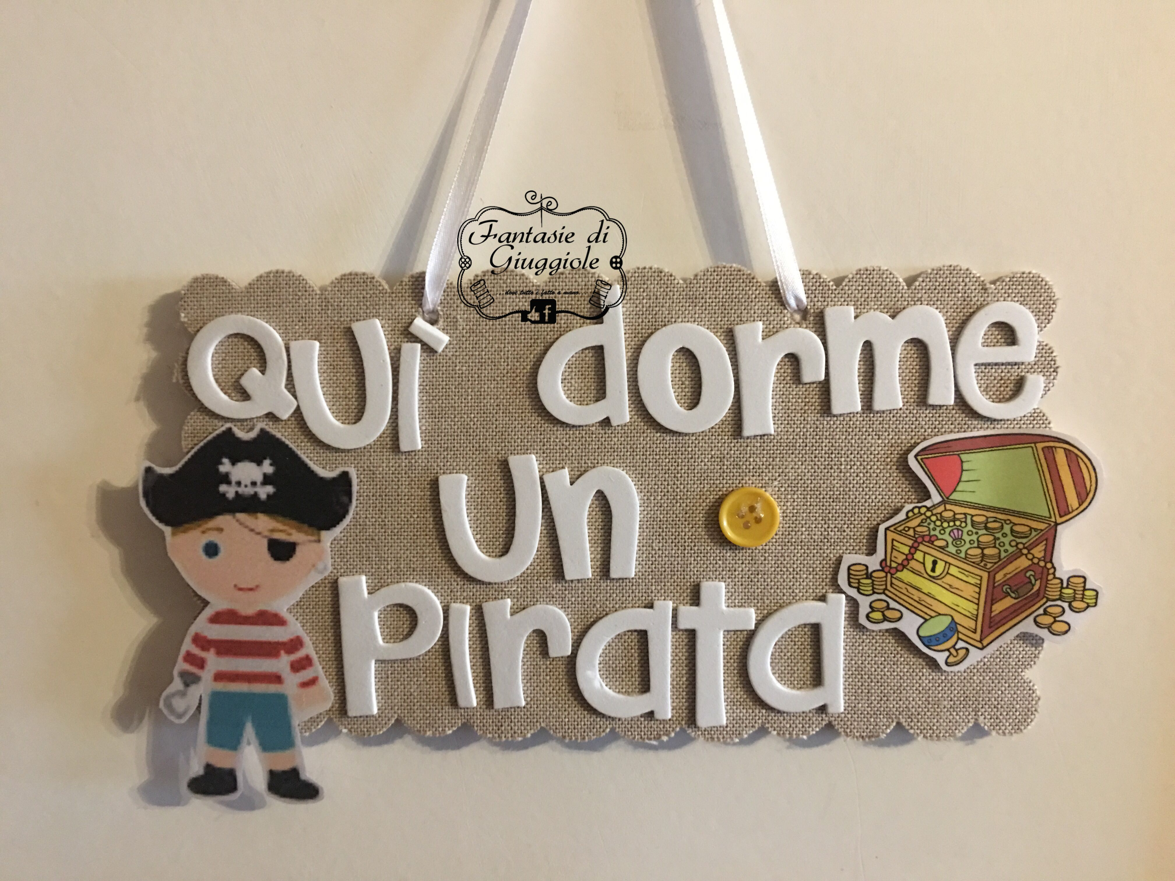 Cameretta Pirati ~ Targhetta pirata per cameretta bimbo targhette
