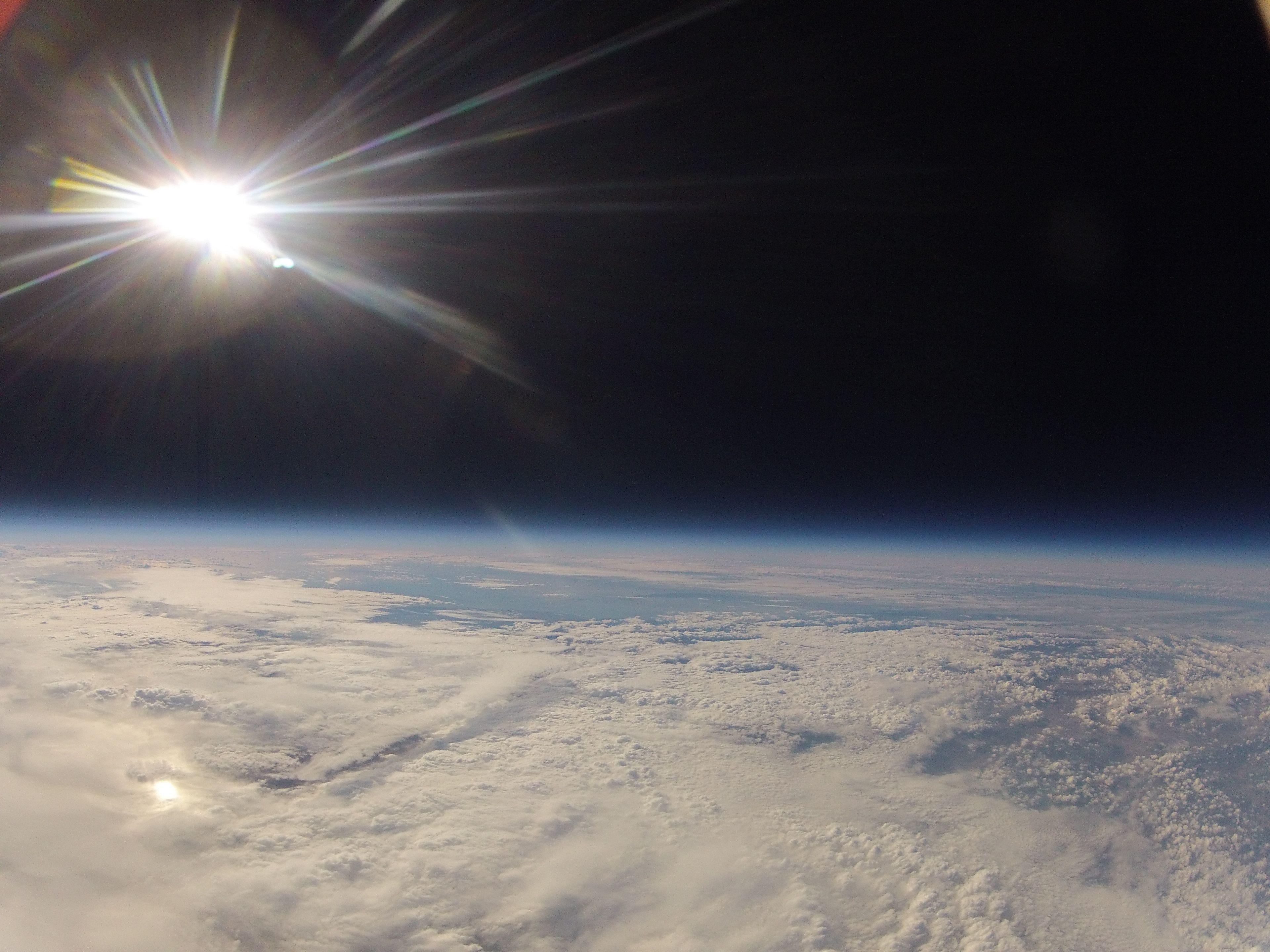 Amateur weather balloon